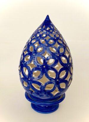 Cerasella Italia s.r.l. - le tue ceramiche di qualità. Lume blu cm 35