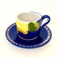 tazza caffe in ceramica dipinta a mano