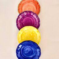Cerasella Italia s.r.l. - le tue ceramiche di qualità. Set da quattro piatti fantasia mistao