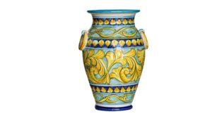 portaombrelli in ceramica dipinto amano