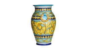 portaombrelli in ceramica dipinto a mano