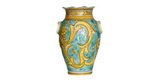 portaombrelli in ceramica dipinta a mano